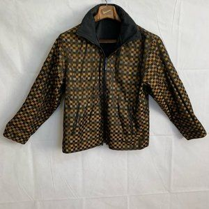 Mycra pac reversible checkered jacket size S/M